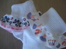 Tap Ballet Dance Ruffle Socks Toddler Girls Set  2 pair
