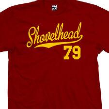 Shovelhead 79 Script Tail T-Shirt - 1979 Motorcycle Bobber Chopper - All Colors