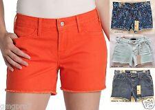 Levis Distressed Cut Off Colored Stretch Denim shorts 4 6 8 10 12 14 16 NEW