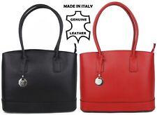 BORSE IN PELLE Italiano Originale in Pelle da Donna Totes Borsa Shopper
