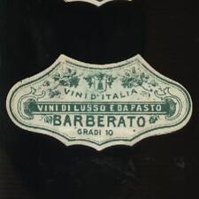ETICHETTA DA COLLO-VINI D'ITALIA-BARBERATO