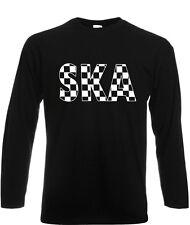 Ska Mens T Shirt 2 Tone Reggae Music Specials Madness Selector Long Sleeve Beat