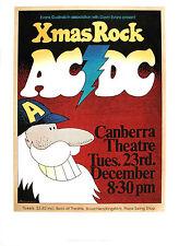 Very Rare AC/DC Aussie 1975 XMAS POSTER!!