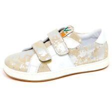 E9108 sneaker bimba girl NATURINO strappi suede/leather beige/white/silver shoe