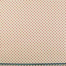 100% Cotone Tessuto - 3mm a Pois-ROSSO SU AVORIO-ROSE & HUBBLE-tagliato dal rotolo