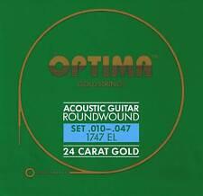 Optima 24K Gold Acoustic Strings10-47