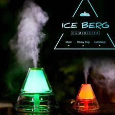 Trulanco Creative Mini Iceberg Shape Humidifier Colorful Night Light for Office