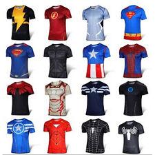 Sueprhero T-Shirt Men Casual Short Sleeve Marvel Costume Cycling Tops Jersey