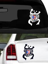 """Puerto Rico Vinyl Car Decal Sticker 7.5""""(H) Puerto Rican Flag w/ Frog design No3"""
