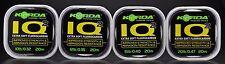 Korda IQ2 Fluorocarbon Extra Soft Hooklink Fishing Line All Sizes