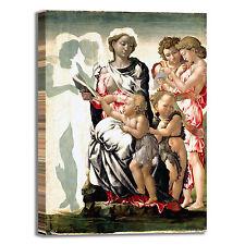 Michelangelo Madonna e  bambino quadro stampa tela dipinto telaio arredo casa