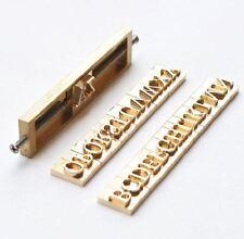 Custom 26 Alphabet Letter Brass leather stamp with T-slot holder, Heat Embosser