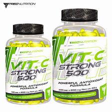Vitamin C Strong 500 100-300 Capsules Bioflavonoids Ascorbic Acid Zinc Immunity