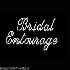 Bridal entourage hot fix rhinestone transfer crystal diamonte wedding hen night
