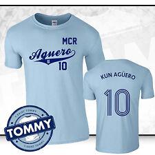 Man City Sergio Aguero #10 T-Shirt, Ageuro Man City T-Shirt Kun Ageuro