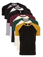 Mens Unisex Next Level Cotton Contrast Raglan Sleeve Baseball Tee T-Shirt
