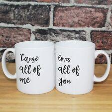 Personalised gift Mugs - Anniversary Wedding - John Legend, All of Me