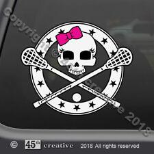 Mädchen Lacrosse Totenkopf Abziehbild - Team Stick Aufkleber