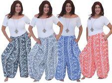 pants elastic waist pockets lagenlook OS M L XL 1X 2X CHOOSE YOUR COLOR