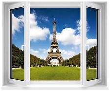Adesivo finestra inganna l'occhio Torre Eiffel