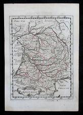 1648 France Aquitania Aquitaine BORDEAUX grenzkolorierte RAME-CARTINA