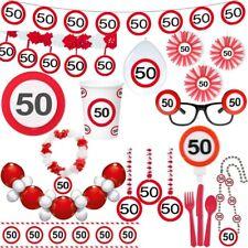 50. anniversaire signalisation Fête Déco Nombre Décoration Set rouge pour fêtes