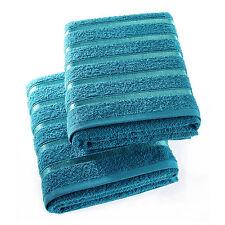 100% EGYPTIAN COTTON SUPER SOFT BATH TOWELS / SHEETS 2 PACK.LUXURY STRIPE TOWELS