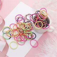 50Pcs/bag Multicolor Kids Hair Ties No Damage Elastic Hair Bands for Baby Girls