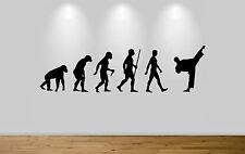 Judo evolución pegatinas de pared calcomanía pared del dormitorio Art Karate Evolution