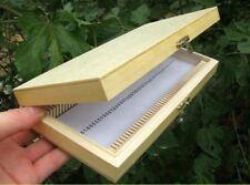Wooden Microscope Slide Box Rectangle Hold Cabinet Holder Case Microscope Slides