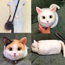 Simulation Cat Vivid Ladies Shoulder Bags Animal Handmade Handbag Xmas Gift