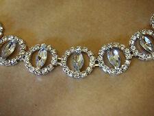 Headband Crystal Bridal Formal Stretchy headpiece