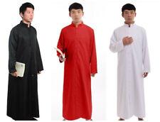 Blessume Roman Men Cassock Orthodox Clergy Robe Stand Collar Priest Vestments