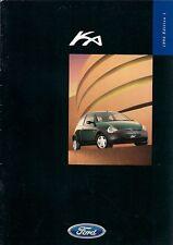 Ford Ka 1998 UK Market Sales Brochure Ka Ka2 Ka3