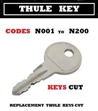 2 x Thule Keys cut to code  N - Series locks  001 TO  200  keys