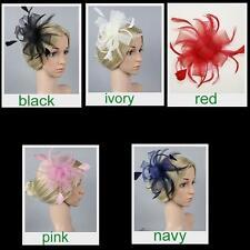 Feather Net Hat Women Wedding Lace Hair Clip Ladies Flower Accessory Jian