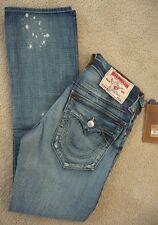 NWT True religion mens Ricky straight leg jeans in AAPM Black Water