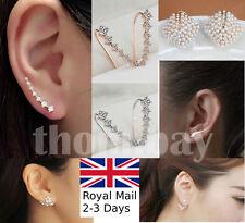 Elegant Women Crystal Rhinestone Ear Stud Daisy Flower Earrings Fashion Jewelry