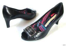 new MARC JACOBS black ID logo peep-toe pumps heels shoes