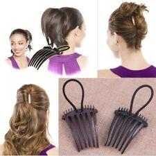 Steckkamm MIT Gummi Einsteckkamm Frisurenhilfe Haarkamm Haardreher Hair Twister