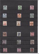 Württemberg 1906, Einzelmarken aus Michelnrn.: aus 217 - 271 o, gestempelt o