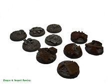 Resina 25 mm Redondo Urbano/escombros Scenic infantería bases Wargames, WH40K, Astra Milit