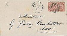 ITALIA REGNO - MANIFESTO CIRCOLARE annullo numerale 2586 BOVOLONE - 1883