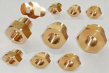 Brass Sump Plug Adaptor Sensor Gauge Oil Temperature Drain NPT to Metric Thread