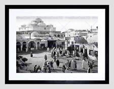 Bab suika suker square tunis tunisie 1899 old bw encadrée art print mount B12X052