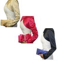 Damen Satin  Clutch Abendtasche Umhängetasche Handtasche Kettentasche