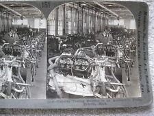 c1900 TESTING ENGINES, AUTO PLANT, DETROIT STEREOVIEW