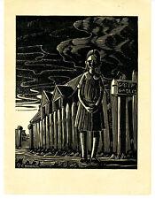 1930s Linoleum Print Play Cover of Anne of Grren Gables