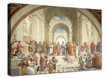 Quadri Moderni Stampa su Tela Canvas effetto Dipinto Raffaello Scuola di Atene