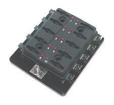 KFZ Sicherungshalter 10fach Status LED Auto Flach Sicherung Halter Dose Box Boot